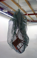 Sean Naftel  Chair, enamel, rope, net<br/>
