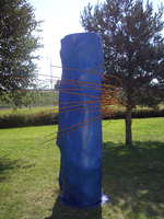 Sean Naftel  Log, steel, paint<br/>