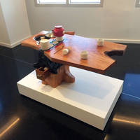 Sean Naftel Celica Tea Ceremony: Calder Brannock Porcelain, epoxy resin, cherry wood, engine block, matcha, bamboo, rag, stainless steal pot