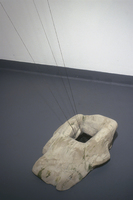 Sean Naftel  Foam, ink, cement, string, wood, wax<br/>