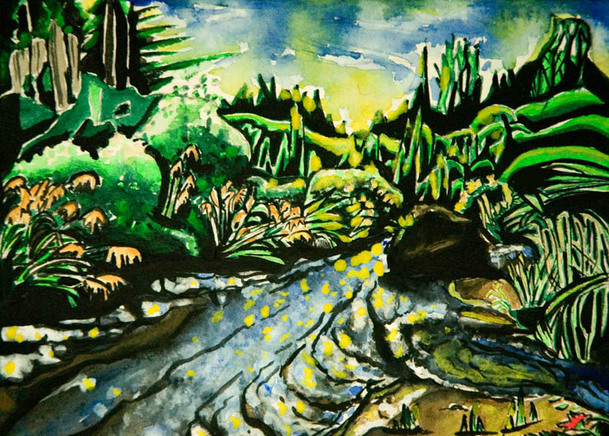 Miscellaneous Paintings Trout Stream