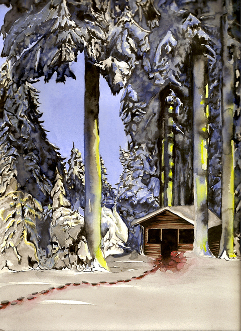 Miscellaneous Paintings Black Forest Shed
