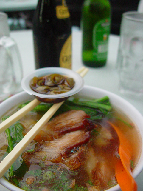 food Rice Noodle Pork Soup