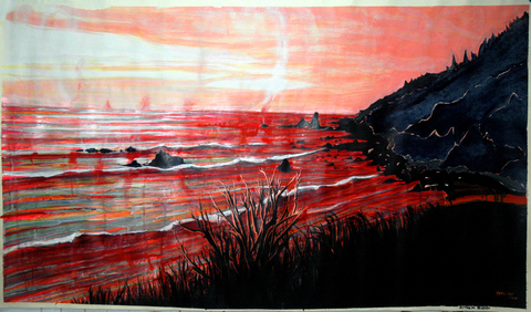 Sera Mac The West Acrylic and Acrylic Ink