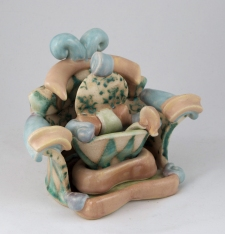 Shana Angela Salaff Shana Salaff Portfolio Oxidation-fired stoneware, thrown, altered and handbuilt