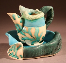 Shana Salaff Shana Salaff Portfolio Oxidation-fired porcelain, thrown, altered and handbuilt
