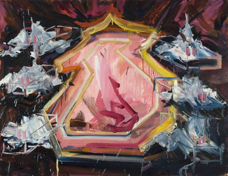 Shanna Waddell Heaven's Gate Cult  Oil on Canvas