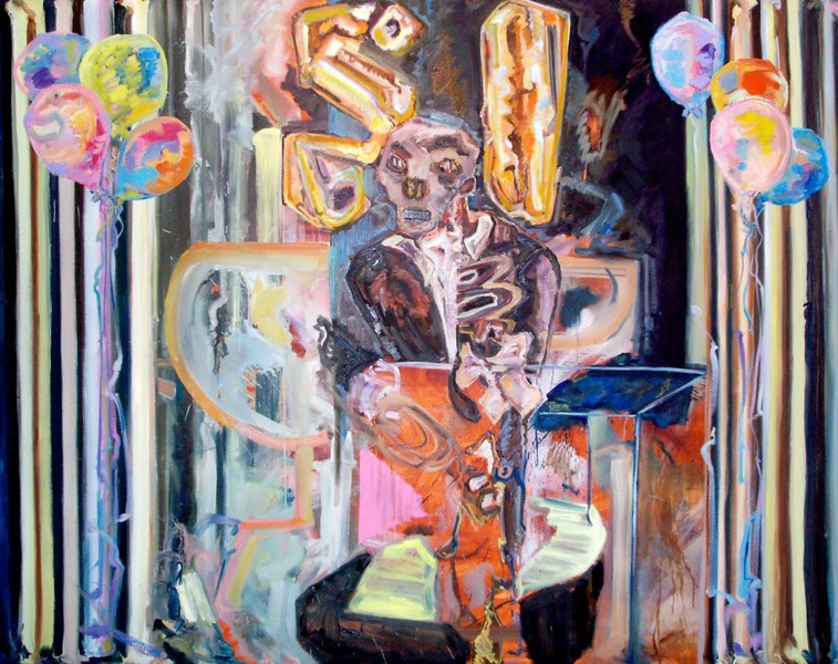 Shanna Waddell Misshapen Choas oil on canvas