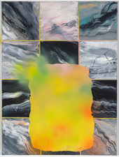 Sharona Eliassaf Current Paintings Oil and Spray on canvas