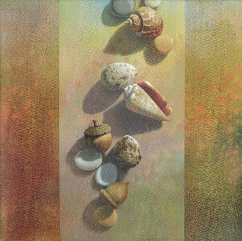 SHARON COSGROVE STILL LIFE acrylic + oil on canvas