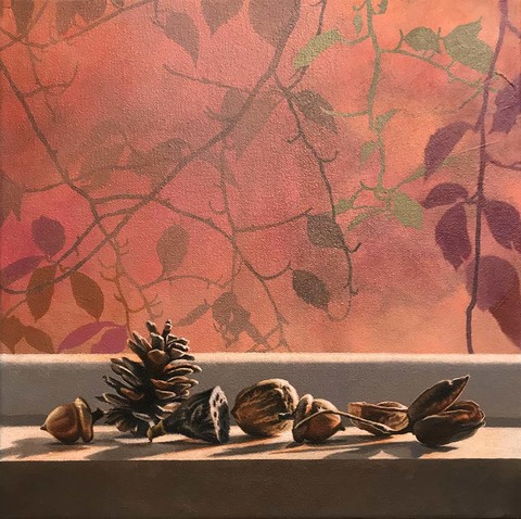 SHARON COSGROVE STILL LIFE acrylic & oil on canvas