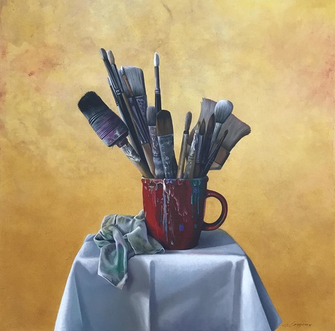 SHARON COSGROVE STILL LIFE oil on canvas
