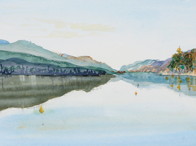 Sharon Hogg 2009 Just The Land Watercolour on Paper