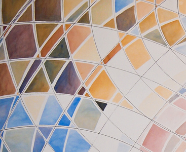 Sharon Hogg 2012 Flatland: A Romance in Many Dimensions Watercolour and India Ink on Board Mounted Paper