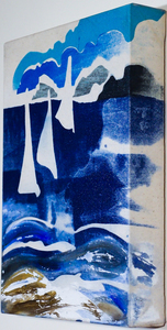 Sharon Hogg 2013 At The Regatta Silkscreen and Acrylic on Bleached Linen