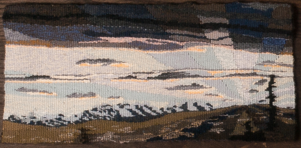 Sharon Hogg 2014 Fairly Odd Landscapes Wool tapestry in three panels
