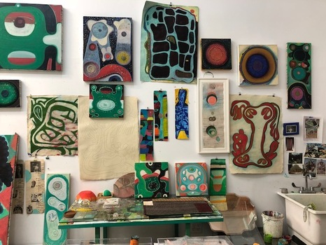 SHARON HORVATH Studio Shots Paintings on paper