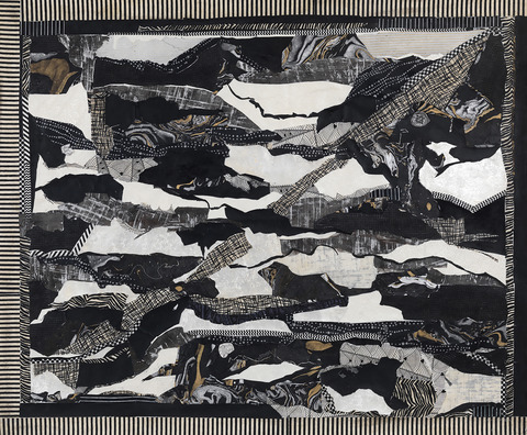 Sheila McInerney  The Descent collage on paper
