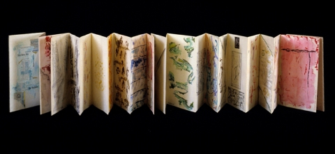 Sheila McInerney  Accordion Books mixed media