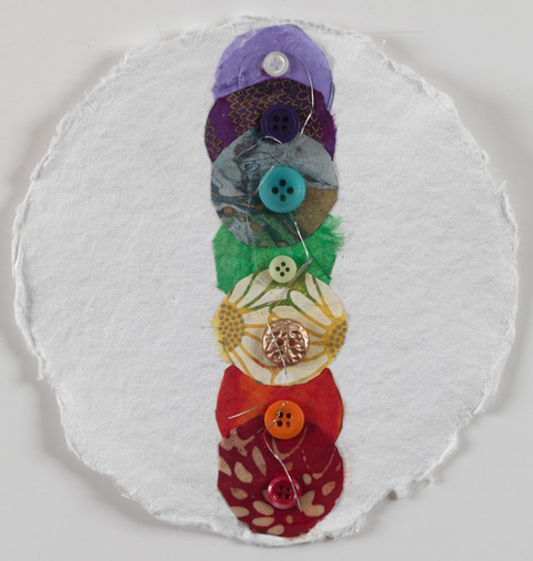 Sheila McInerney  The Chakras collage on paper