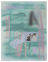 Sherif Habashi Recent works on paper Oil and Inkjet Transfer on Paper