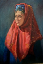 Shirin Moosavi Figurative Art Oil on Board