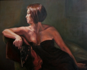 Shirin Moosavi Figurative Art Oil on Canvas