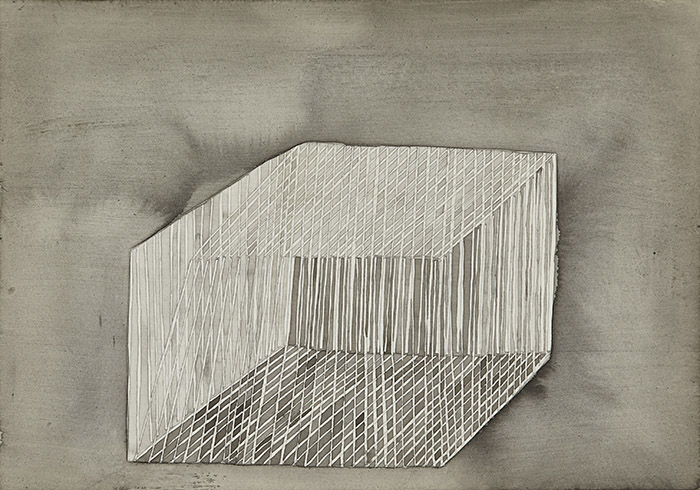 Piles, cages, coils 2009-2010 gouache, pencil on paper
