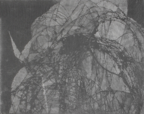 Tangles, Portals and Fences 2004-2007 pencil scratch on transfer paper