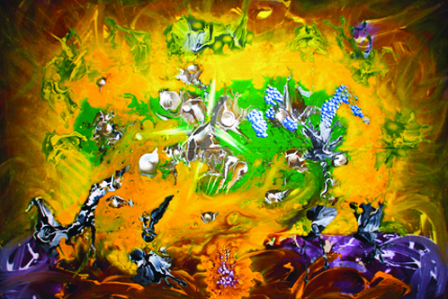 Sideshow Roy Lerner, Peter G Ray, Wizards With Paint Acrylic and oil on canvas