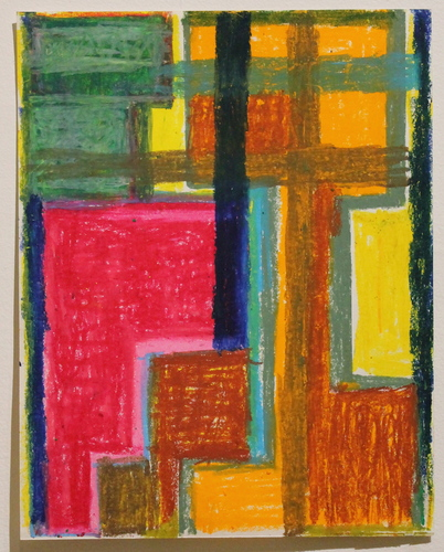 Sideshow Vered Lieb oil pastel on paper