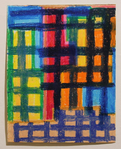 Sideshow Gallery Vered Lieb oil pastel on paper