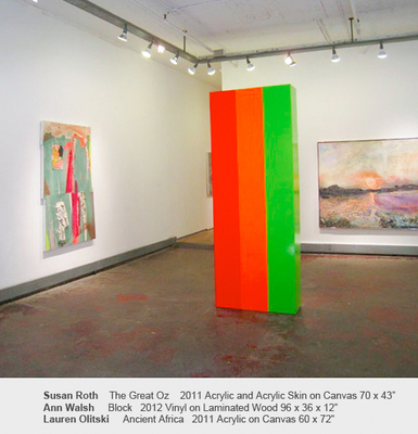 Sideshow Gallery Color And Edge: Lauren Olitski, Susan Roth, Ann Walsh - March 31 to May 6, 2012