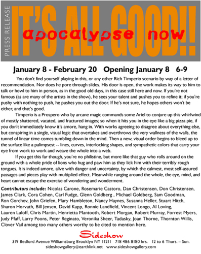 Sideshow Gallery It's All Good Apocalypse Now