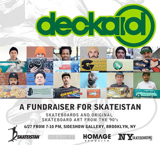 Sideshow Gallery Deckaid - Skateboards and Skateboard Art form the 90's