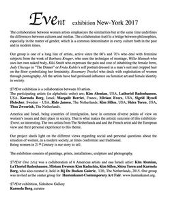 Sideshow Gallery EVEnt Exhibition New York 2017