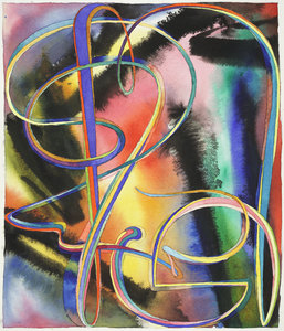 Sideshow Gallery Fred Gutzeit watercolor on paper