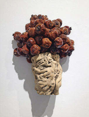 Sideshow Gallery Tracy Heneberger Pomegranates, grape vine root, epoxy, resin