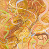 Tangles acrylic on board