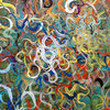 Tangles acrylic on canvas