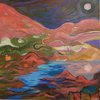 Distant Lands Acrylic, flashe on canvas
