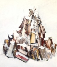STACIE SPEER SCOTT Wood Stack acrylic