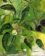 STACIE SPEER SCOTT Botanical mixed on board