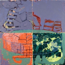 Stephanie Hightower More Questions - Painting on Panel and Paper oil on four panels