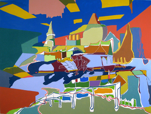 Stephanie Hightower Recent Work - The Urban Field oil on canvas