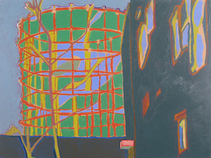 Stephanie Hightower The Urban Field acrylic on panel