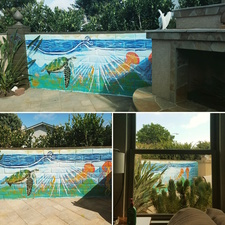Stephanie Pierro Murals Exterior Acrylic on brick