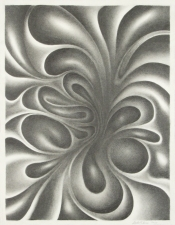Stephen Aman Fluid Distortion Series graphite on paper