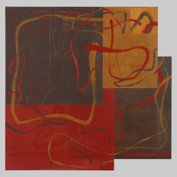 2010 Canvas Untitled (10o/c15.1x15.3EarthPlanes&Lines(Caput;BU;SpGreen)-unfin)