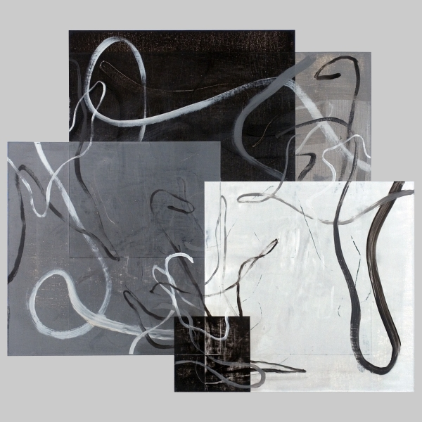 2010 Canvas Untitled [10o/c16.8x18.9Value3Planes&Lines(Ivory&Lead)]
